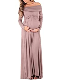 Women's Cowl Neck and Over The Shoulder Ruched Maternity...