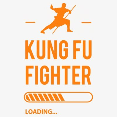Sudadera con capucha de mujer Kung Fu Fighter Loading by Shirtcity Blanco