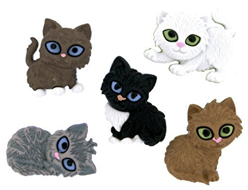 Dress It Up Buttons Cat Collection #6971 Kit N Kabooble 6971-2P (Fabric Cat Button)