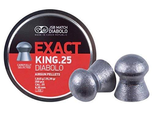 JSB Match Diabolo Exact King .25 Cal, 25.39 Grains, Domed, 350ct