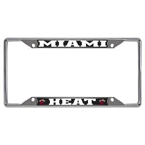 FANMATS 14862 NBA Miami Heat Chrome License Plate Frame