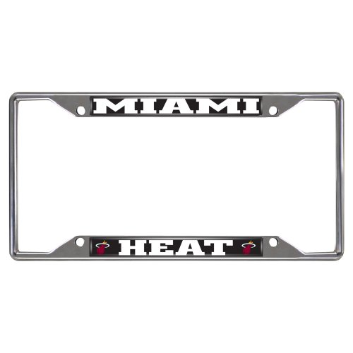 FANMATS  14862  NBA Miami Heat Chrome License Plate - Frame Nba