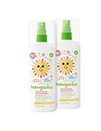 Babyganics Mineral-Based Baby Sunscreen Spray, SPF 50, 6oz Spray Bottle (Pack of 2) BOBEBE Online Baby Store From New York to Miami and Los Angeles