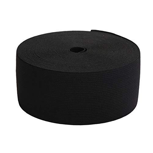3 Inch Elastic - MYUREN 2-1/3 Inch by 10 Yard Black Heavy Stretch High Elasticity Elastic Spool Knit Elastic Bands for Sewing
