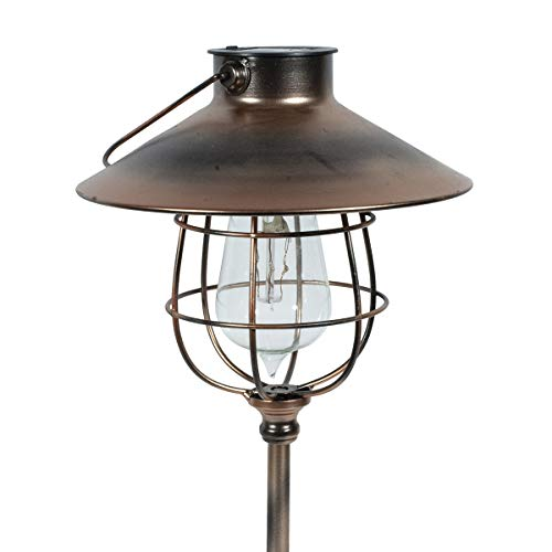 Echo Valley 4526CPK2 EDI-Sol 2 in 1 Hanging Vintage Pendant Lantern Solar Lighting with Optional Garden Stake, Copper (Pack of 2) ()
