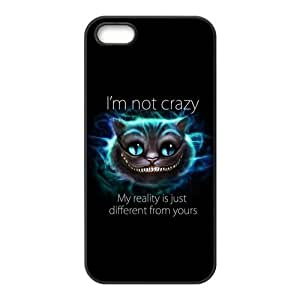 Unique Art Cheshire cat & Alice's Adventure in Wonderland Customized Special DIY Hard Best Case Cover for iPhone 5 5S