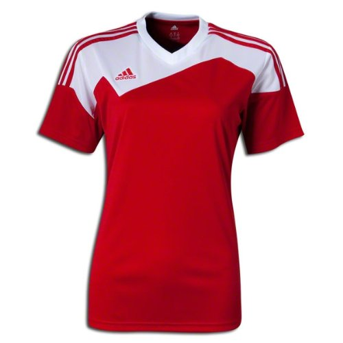 Adidas Toque 13 Womens Soccer Jersey L Power Red-White