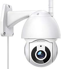Victure Telecamera WiFi Esterno FHD 1080P Telecamera IP con Vista Panoramica/Inclinazione a 360° Visione Notturna...