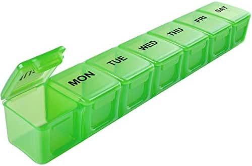 Extra Large Weekly Pill Organizer, Sukuos XL Daily Pill Cases Colors for Pills/Vitamin/Fish Oil/Supplements
