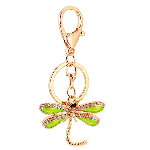 Jocestyle Womens Girls Cute Shape Key Chain Locky Keychain Keyrings Handbag Bag Purse Car Accessory Gift (06 Dragonfly)