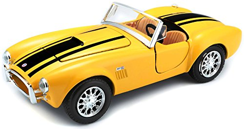 (Maisto 1:24 Scale 1965 Shelby Cobra 427 Diecast Vehicle (Colors May Vary))