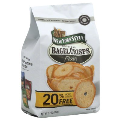 New York Style Plain Bagel Chips, 7.2 Ounce - 12 per case. by New York Style (Image #1)