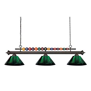 Amazon.com: Z-Lite Shark 3 Light Billiard Light in Bronze ...