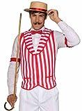 Mens Patriotic Barber Shop Quartet Costume Red and White Vest