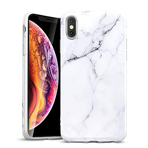 ESR Marble Slim Soft Case for iPhone Xs Max, Flexible TPU Marble Pattern Cover for Apple iPhone 6.5 inch (2018 Release) (White Sierra)