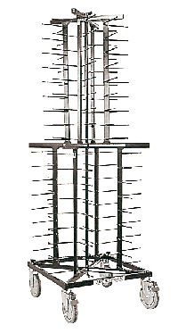 Mobile Plate Rack S/Steel