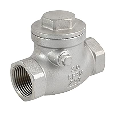"""3/4"""" Swing Check Valve WOG 200 PSI PN16 Stainless Steel SS316 CF8M NPT by SuperWhole"""