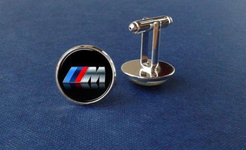 M Power cufflinks, bmw car cufflinks, glass jewelry, picture cufflinks XIAONA