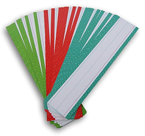 - Teaching Tree Writing Practice Word Strips - 30 Count (Red/Teal/Green Polka Dot)