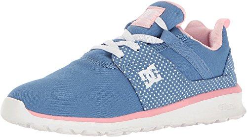 DC Girls Heathrow SP Shoes, Blue/White Print, 13.5M