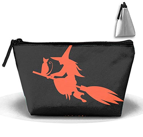 Happy Halloween Trapezoidal Storage Bag Double Print Handbag Coin Purse Cosmetic Pouch Wallet Pencil Holder