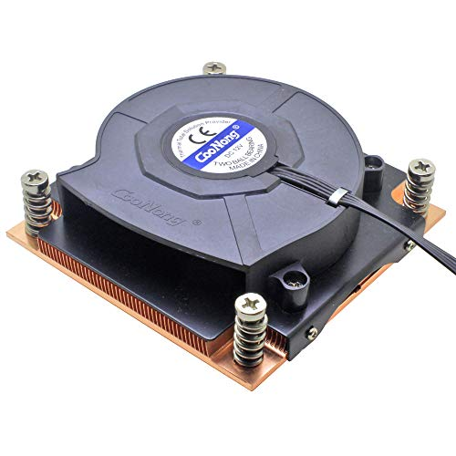 1U Server CPU Cooler 8015 Blower Cooling Fan Copper heatsink for Intel LGA 1150 1151 1155 1156 Industrial Computer Cooling