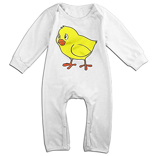 Infants Hay Day Chicken Game Long Sleeve Bodysuit Baby Onesie Baby Climbing Clothes Outfits Jumpsuit For 0-24 Months White 18 (Hay Day Game Halloween)