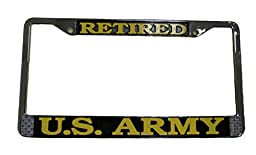 US Army Retired License Plate Frame (Chrome Metal)