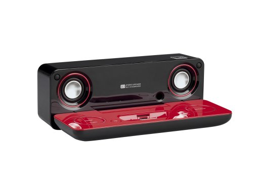 Sharp i-Elegance Music System for iPod and MP3 Players (High Gloss Red/Black) by Sharp (Image #4)