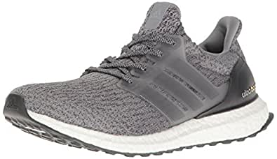 adidas Performance Men's Ultraboost Running Shoe, Grey/Grey/Dark Grey Heather, 4 M US