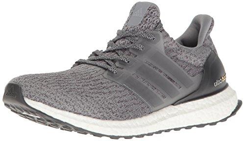 adidas Performance Men's Ultraboost Running Shoe, Grey/Grey/Dark Grey Heather, 9 M US