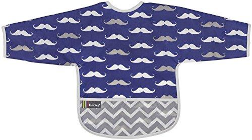 Kushies Cleanbib Waterproof Sleeves Mustache