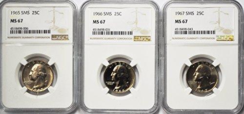 1965 P Washington Quarter Gem Uncirculated 1965-1967 SMS MS67 1967 Quarter