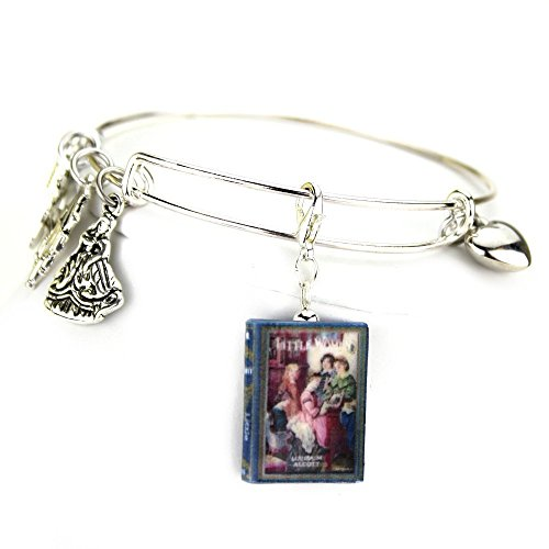 Aristocratic Girl Costumes (LITTLE WOMEN Louisa May Alcott Clay Mini Book Expandable Bangle Bracelet by Book)