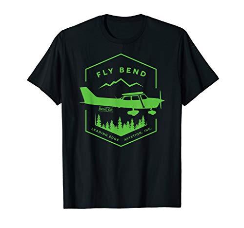 T-shirt Edge Logo - Leading Edge Aviation Airplane T-Shirt Green Logo