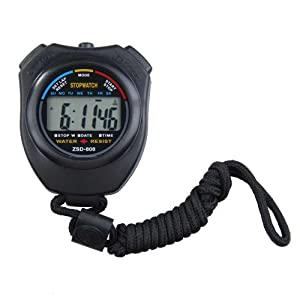 Alloet New Portable Digital Running Timer Chronograph Sports Stopwatch Counter Timer with Strap