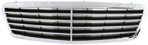CPP Chrome Shell w/ Black Insert Grille Assembly for Mercedes-Benz C-Class MB1200117