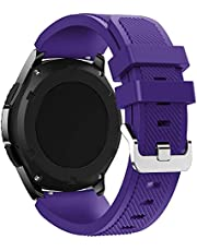 Sport Silicone Bands Straps Bracelet Watch Size 22mm for Huawei Watch GT1, Huawei Watch GT2 46mm, Galaxy S4 46mm, Samsung Active2 44mm, Honor Magic2 46mm,2725494509256