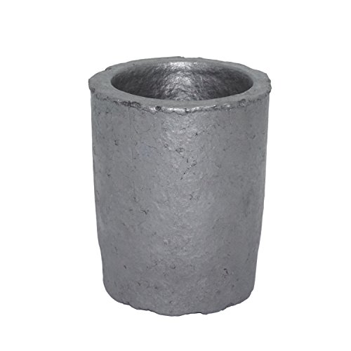 2# Thicken Foundry Silicon Carbide Graphite Crucibles Cup Furnace Torch Melting Casting Refining Gold Silver Copper Brass Aluminum for 1.6KG Copper or 0.6KG Aluminum