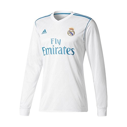 Madrid Benzema Real (adidas Real Madrid CF Home Long Sleeve Jersey [WHITE] (XL))