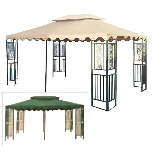 - Garden Winds Replacement Canopy Top Cover for The DC America 10 x 15 Two Tiered Gazebo - RipLock 350