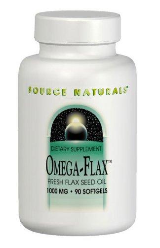 Source Naturals Flax Seed Oil 1000mg (Omega-Flax), 90 Softgels