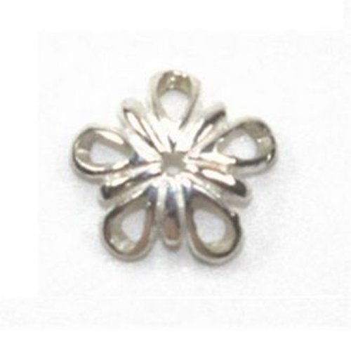 Amoracast Exclusive Sterling Silver 5 Petal Flower Charm