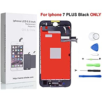 Oli & Ode iPhone 7 Plus Screen Replacement For Lcd Touch Screen Digitizer Frame Assembly Set with 3D Touch (Black)