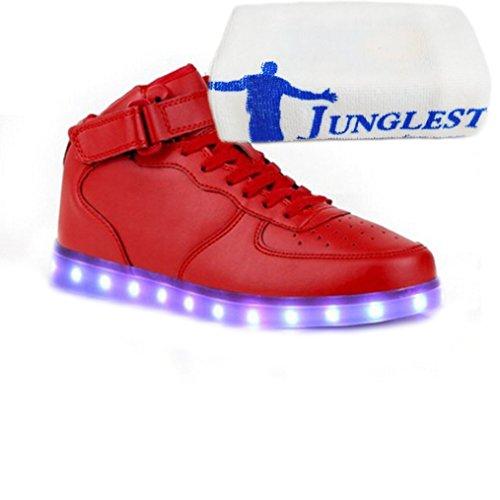 (présent: Petite Serviette) Junglest® 7 Couleurs De Recharge Usb A Conduit Quelques Lumineux Illuminées Chaussures De Sport Occasionnels Haute Chaussures Pour U Rouge
