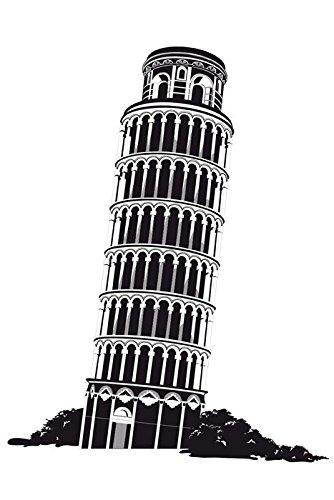 Adesivos De Parede Torre De Pizza - Dellodecor