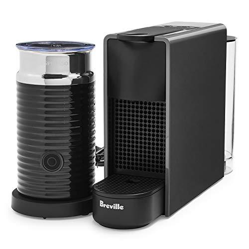Nespresso by Breville Gray Essenza Mini Espresso Maker Bundle with Aeroccino3 Milk Frother