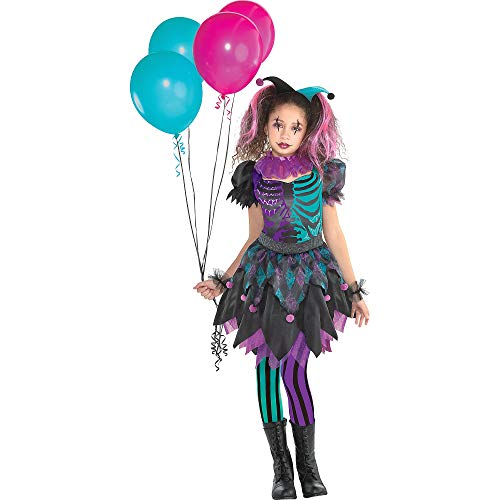 Suit Yourself Haunted Harlequin Halloween Costume for Girls, Small, with Accessories