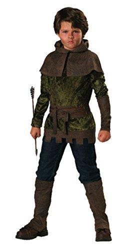 Boys Robin Hood Kids Child Fancy Dress Party Halloween Costume, 4