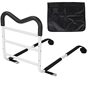 Home Assistant Ergonomic Rail Handle For All Bed Sizes With Accessory Pouch